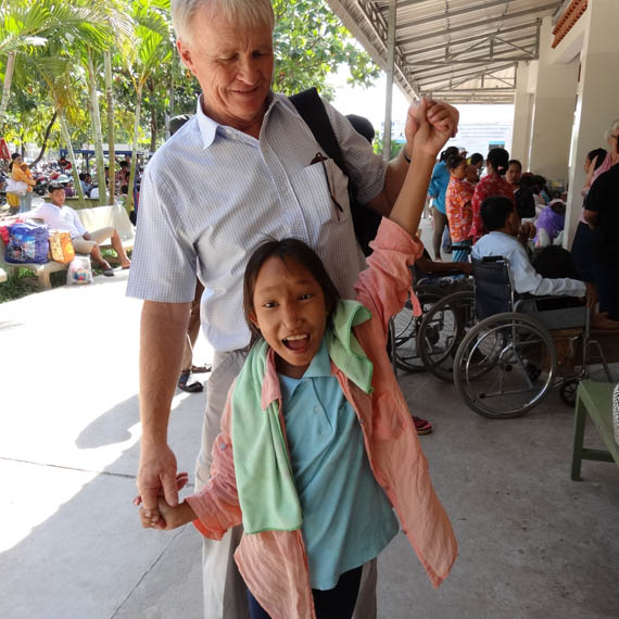 Chantrea Cambodia  city photos : Jock and Chantrea await her 6month check up, 18mths post op.